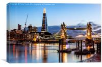 Tower Bridge and the Shard At Nigh, Canvas Print