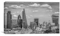 Black and white City of London Skyline, Canvas Print