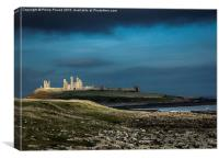 Dunstanburgh Castle in Northumberland , Canvas Print