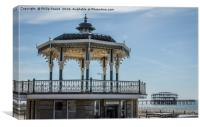 Historic Brighton Bandstand and West Pier, Canvas Print
