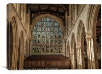 Interior of University Church Oxford, Canvas Print