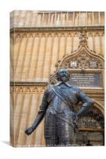 Oxford Bodleian Statue, Canvas Print