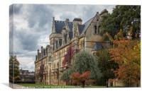 Christ Church  College - Oxford University in the , Canvas Print