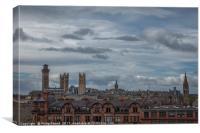 Glasgow City Panorama, Canvas Print