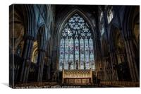 Ripon Cathedral Stained Glass Window, Canvas Print