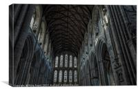 Ceiling at Ripon Cathedral, Canvas Print