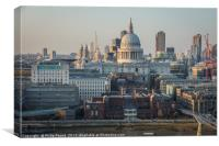St Paul's Cathedral London from South of the River, Canvas Print
