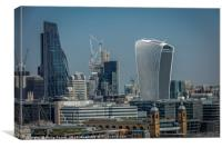 Cheese Grater and Walkie Talkie Buildings in Londo, Canvas Print