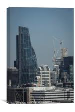 Cheese Grater and Lloyds of London Buildings, Canvas Print