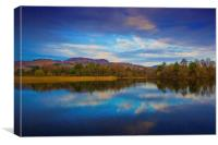 Reflections in a Perthshire Loch, Canvas Print