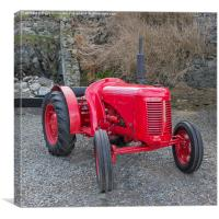 The Little Red Tractor, Canvas Print