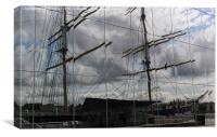 Tall ship reflections, Canvas Print