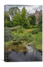 Garden pond , Canvas Print
