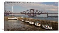 Queensferry Harbour and Forth Bridge, Canvas Print