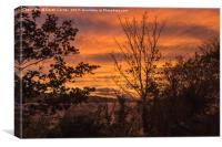 Sunset over the Beauly Firth, Canvas Print