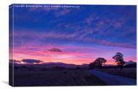 Sunset in North Kessock, Canvas Print