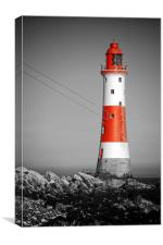 Lighthouse - Red, Canvas Print