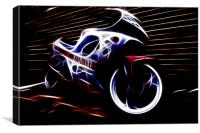 neon bike, Canvas Print