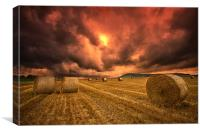Foreboding sky, Canvas Print