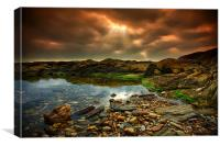 Horseley Cove rockpool, Canvas Print