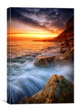 Rock a nore splash, Canvas Print