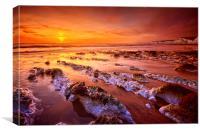 Birling Gap Sunset, Canvas Print