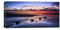 Glyne Gap Sunrise, Canvas Print