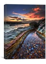 Colours of dawn, Canvas Print