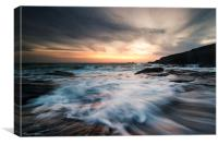 A Cornish Sunset, Canvas Print