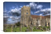 St Helen's Church Cliffe, Canvas Print