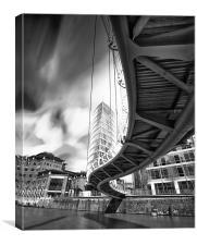 Bridge at Temple quay, Canvas Print