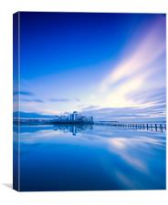 Reflections in blue, Canvas Print