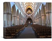 Wells Cathedral the Nave, Canvas Print