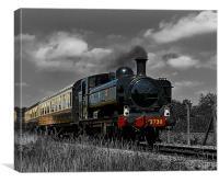 Tank Engine 3738, Canvas Print