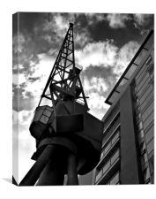Docklands Crane, Canvas Print