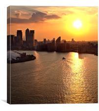 Docklands Evening, Canvas Print