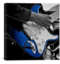 Blues Guitarist, Canvas Print