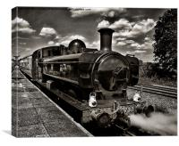 Waiting at the Station, Canvas Print