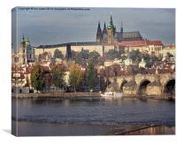 Prague Castle across the Vitava, Canvas Print