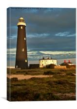 The Old Lighthouse at Dungeness, Canvas Print