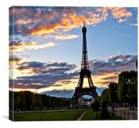 Evening in Paris, Canvas Print
