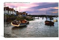 Evening at Burnham Overy Staithe, Canvas Print