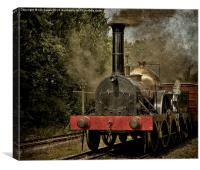 "GWR Broad Gauge ""Firefly"", Canvas Print"