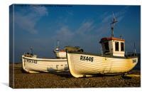 Fishing Boats at Hastings, Canvas Print