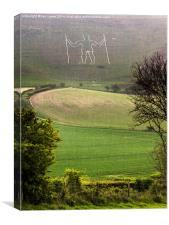 Long Man of Wilmington, Canvas Print
