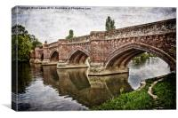 The Bridge at Clifton Hampden, Canvas Print