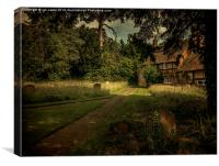 Cottage In The Churchyard, Canvas Print