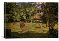 Dorchester Abbey Churchyard, Canvas Print