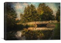 The Swing Bridge At Sulhamstead, Canvas Print