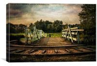 Kennet and Avon Swing Bridge, Canvas Print